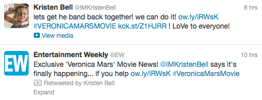 Veronica Mars Movie Tweets