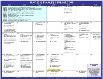 2013 TV Finale & Show Renewal Guide