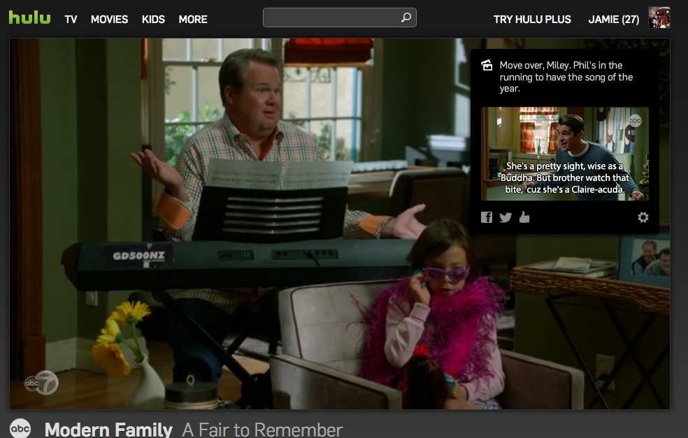 Hulu Experiments With Enhanced Viewing