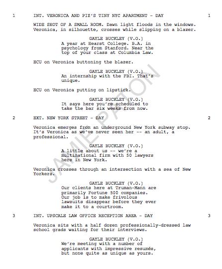 Veronica Mars Movie Script Page 1