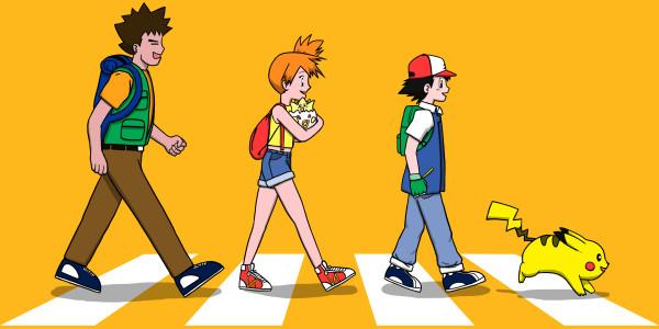 Pokemon Ash Brock Misty