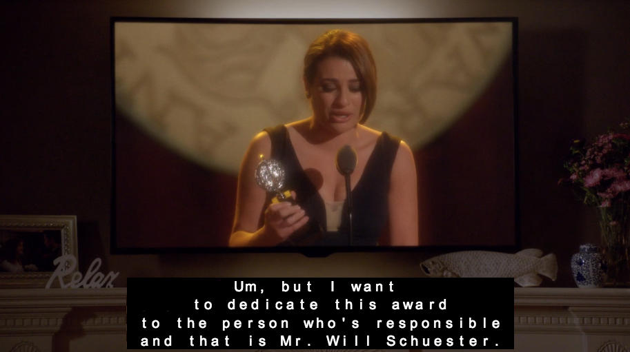 Rachel's Acceptance Speech - Glee
