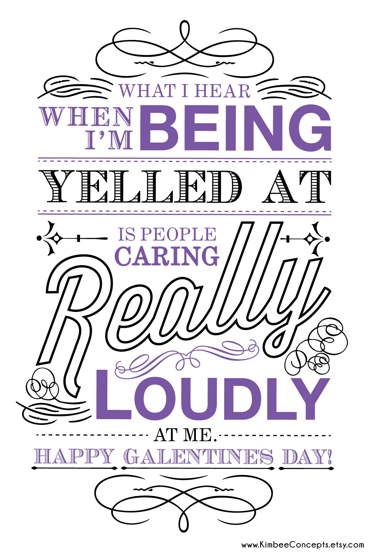 Free Galentines Day Card Caring Loudly