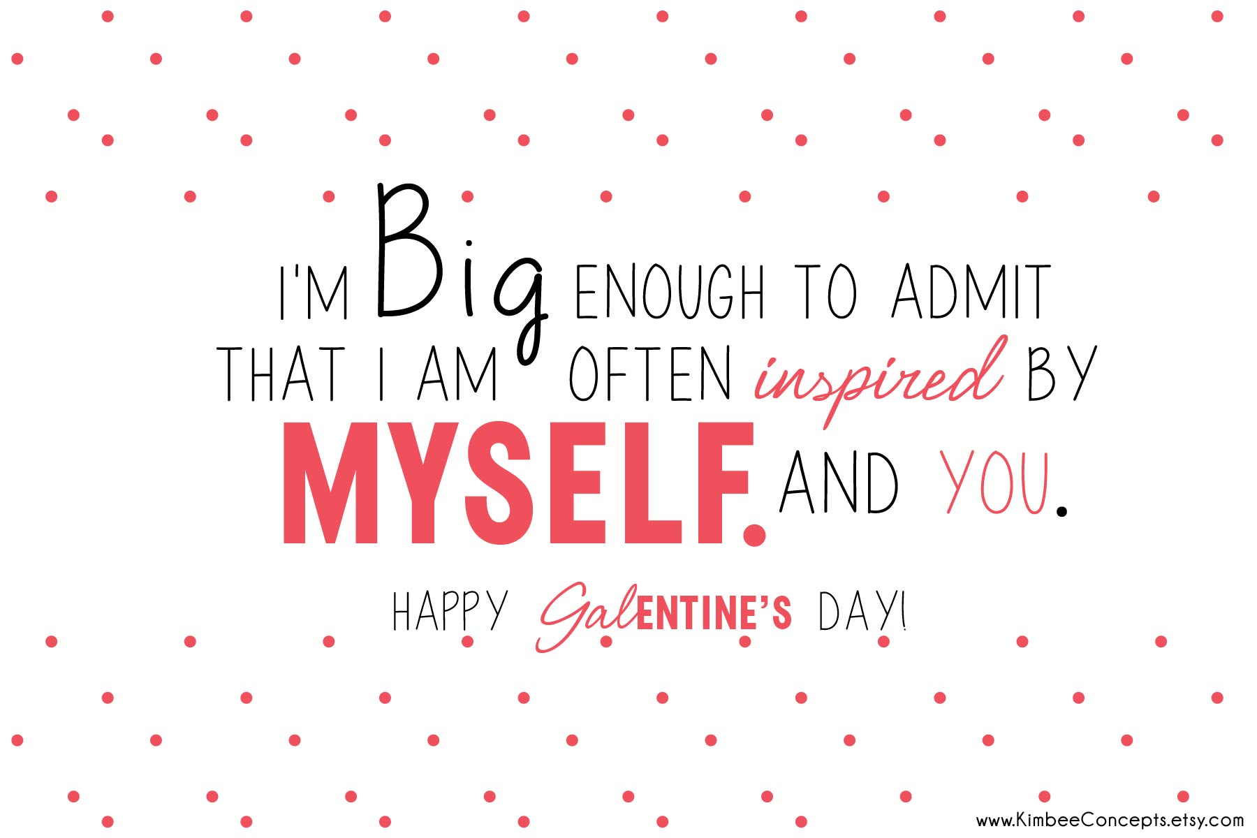Free Galentines Day Card Inspire Myself