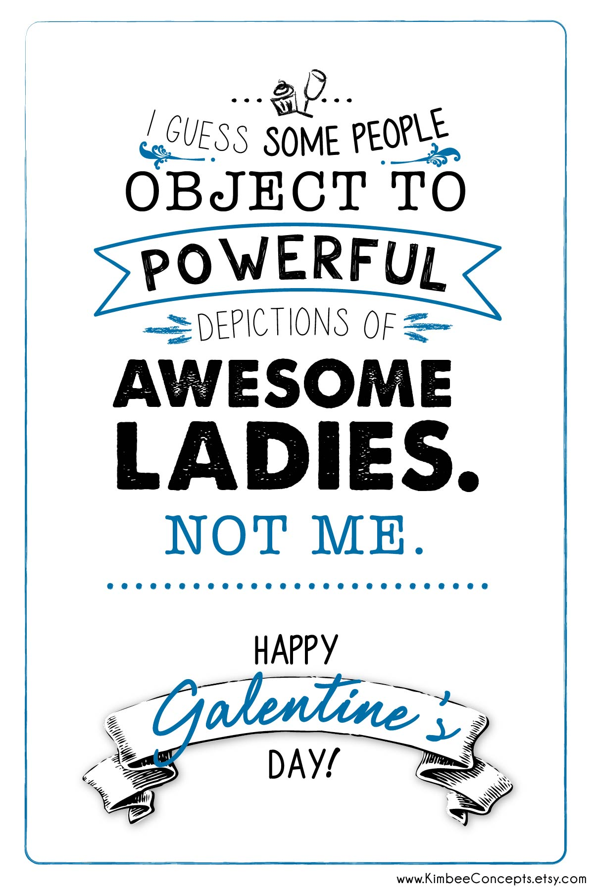 Free Galentines Day Card Powerful Women