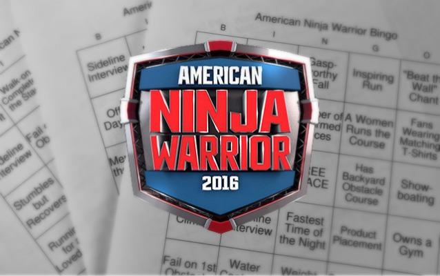 American Ninja Warrior Bingo