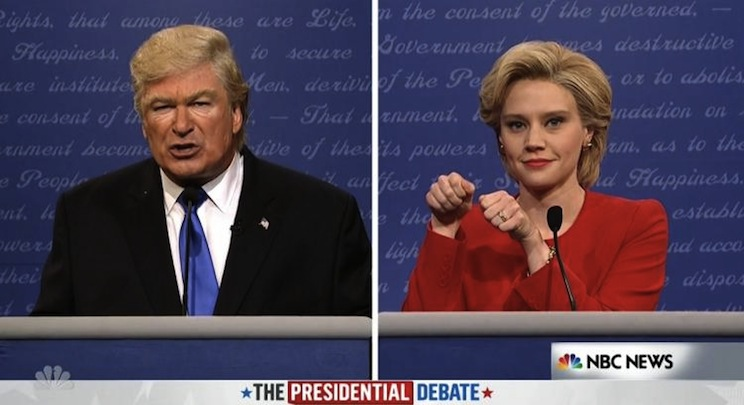 SNL Clinton Trump Debate 2016