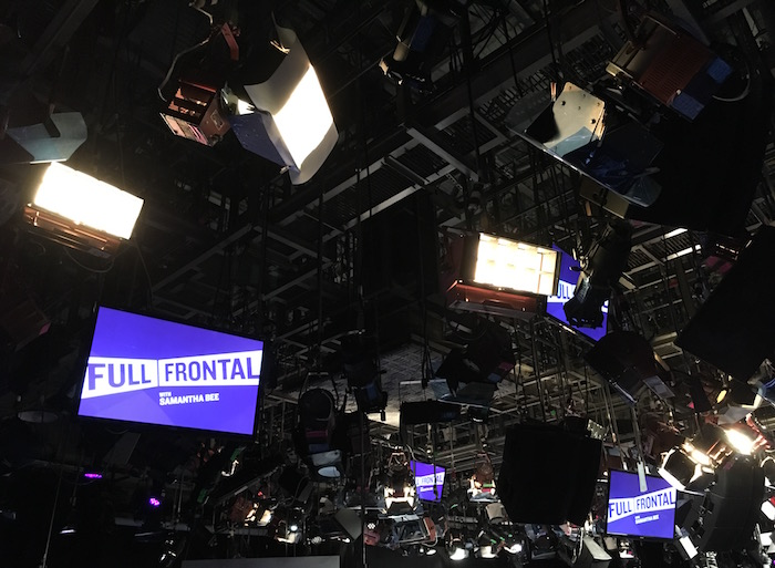 Full Frontal Samantha Bee sound stage